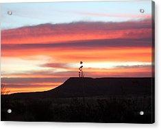 Mile Marker 122 West Texas Sunrise Acrylic Print