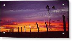 West Texas Sunset Acrylic Print