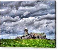 Acrylic Print featuring the photograph West Virginia Barn by Steve Zimic