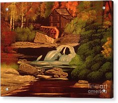 West Virginia Grist Mill Acrylic Print by Tim Blankenship