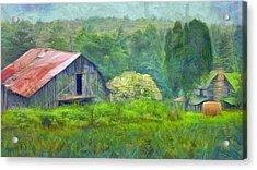 West Virginia Homestead Acrylic Print by Judy Coggin