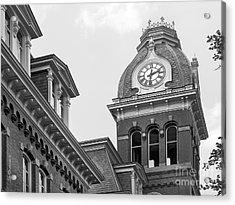 West Viriginia University Clock Tower Acrylic Print by University Icons