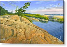 Acrylic Print featuring the painting Wind Swept by Michael Swanson