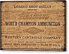 Western Ammunition Box Acrylic Print by American West Legend By Olivier Le Queinec
