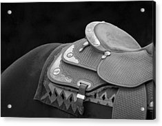 Western Art Navajo Silver And Basketweave In Black And White Acrylic Print by Michelle Wrighton