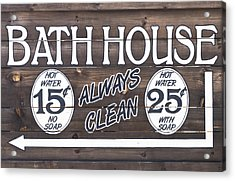 Western Bathhouse Sign Acrylic Print