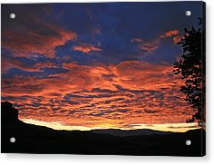 Western Day's End Acrylic Print