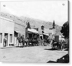 Western Film Still Acrylic Print by Underwood Archives