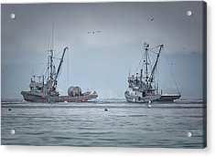 Acrylic Print featuring the photograph Western Gambler And Marinet by Randy Hall