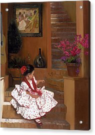 Western Grace Of Good Cheer    Mexico    From The Three Graces Of The West Acrylic Print by Anna Rose Bain