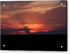western Illinois Sunset Acrylic Print by Dave Clark