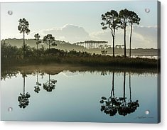 Western Lake Misty Morning Acrylic Print