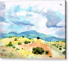 Acrylic Print featuring the painting Western Landscape by Andrew Gillette