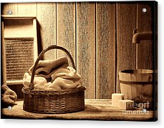 Western Laundromat   Acrylic Print by American West Legend By Olivier Le Queinec