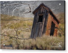 Western Outhouse Acrylic Print by Ron Hoggard