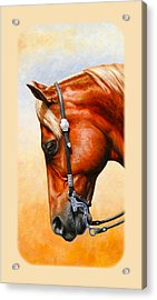 Western Pleasure Horse Phone Case Acrylic Print