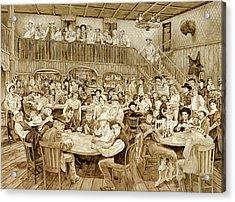 Western Saloon Acrylic Print