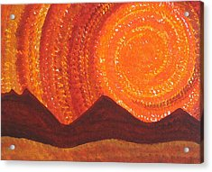 Western Sky Wave Original Painting Acrylic Print by Sol Luckman
