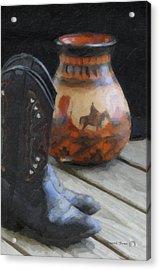 Western Still Life Acrylic Print by Kenny Francis