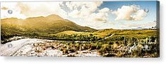 Western Tasmania Mountain Range Acrylic Print by Jorgo Photography - Wall Art Gallery