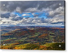 Western View From Mt Ascutney Acrylic Print