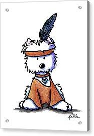 Westie Pocahontas Acrylic Print by Kim Niles