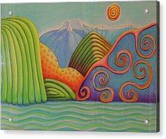 Westland Lake Nz Acrylic Print by Barbara Stirrup