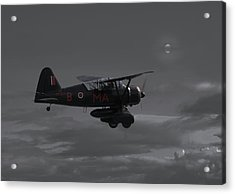 Westland Lysander - Moonlit Mission Acrylic Print by Pat Speirs