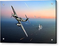 Acrylic Print featuring the photograph Westland Whirlwind Attacking E-boats by Gary Eason