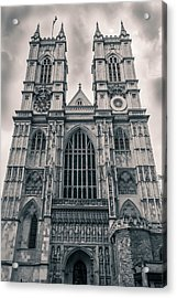 Westminister Abbey Bw Acrylic Print