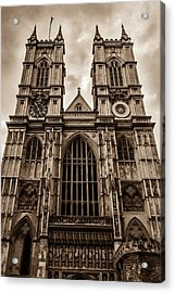 Westminister Abbey Sepia Acrylic Print