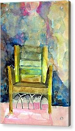 Westminster Abbey Queen Chair Acrylic Print by Mindy Newman