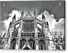 Westminster Abbey Under The Clouds Acrylic Print