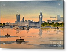 Westminster And Big Ben 1 Acrylic Print by Bill Holkham
