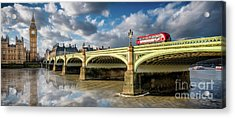 Westminster Bridge Acrylic Print by Adrian Evans