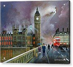 Westminster Bridge Acrylic Print