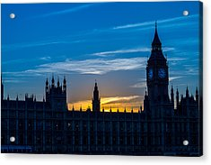 Westminster Parlament In London Golden Hour Acrylic Print