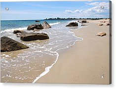Acrylic Print featuring the photograph Westport Harbor Low Tide by AnnaJanessa PhotoArt