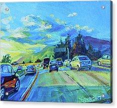 Westward Acrylic Print by Bonnie Lambert
