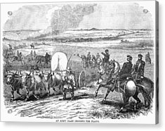 Westward Expansion, 1858 Acrylic Print by Granger