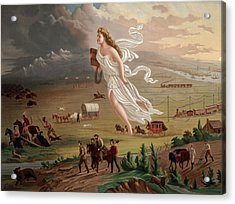 Westward Ho Allegorical Female Figure Acrylic Print by Everett
