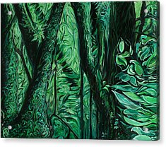 Wet Forest Acrylic Print