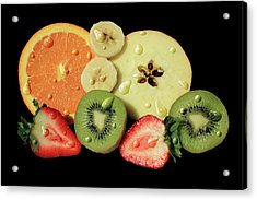 Acrylic Print featuring the photograph Wet Fruit by Shane Bechler