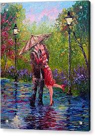 Wet Kiss Acrylic Print by David G Paul