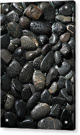 Wet River Rocks  Acrylic Print by Michael Ledray