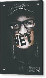 Wet Silence Acrylic Print by Jorgo Photography - Wall Art Gallery
