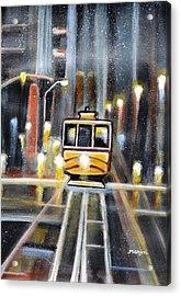 Wet Tram California Acrylic Print