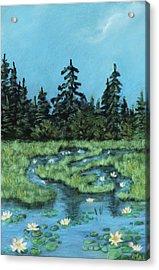 Acrylic Print featuring the painting Wetland - Algonquin Park by Anastasiya Malakhova