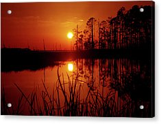 Acrylic Print featuring the photograph Wetland Sunset by Robert Geary
