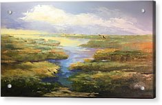 Acrylic Print featuring the painting Wetlands by Helen Harris